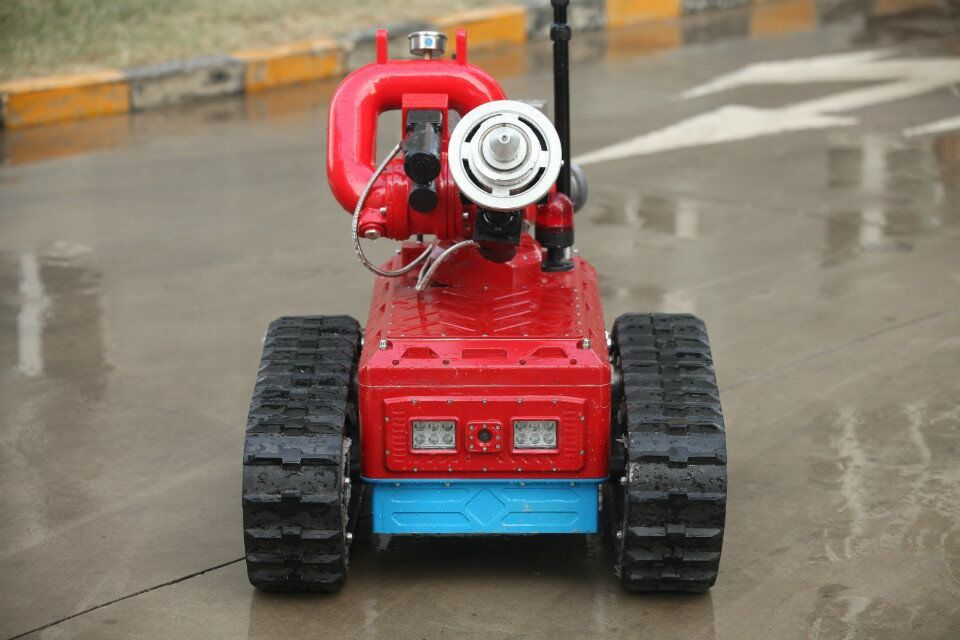 Remote Control Automatic Fire Fighting Robot , Automatic Fire Extinguisher Robot